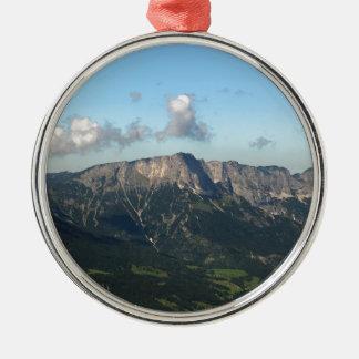 Bavarian Alps near Berchtesgaden Silver-Colored Round Decoration