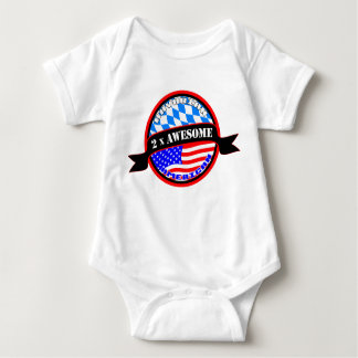 Bavarian American 2x Awesome Baby Creeper