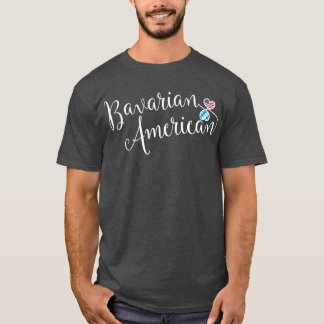 Bavarian American Entwinted Hearts T-Shirt