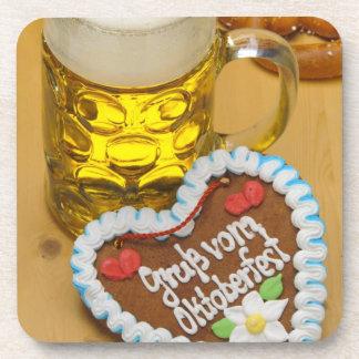 Bavarian beer 2 coasters