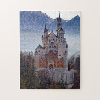 Bavarian Castle Neuschwanstein in Winter Jigsaw Puzzle