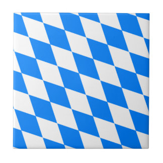Bavarian Flag - Bayerische Flagge Ceramic Tile