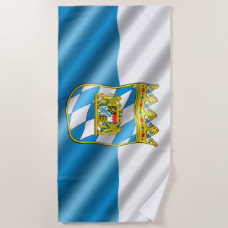 Bavarian flag beach towel