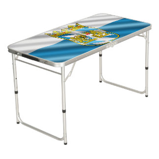 Bavarian flag beer pong table