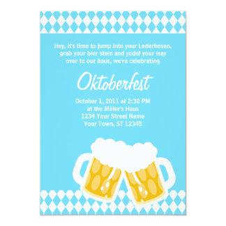 Bavarian Flag & Bier Stein Oktoberfest Invitation