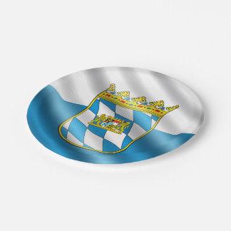 Bavarian flag paper plate