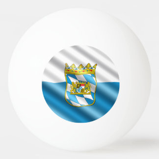 Bavarian flag ping pong ball
