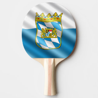 Bavarian flag ping pong paddle