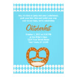 Bavarian Flag & Pretzel Oktoberfest Invitation