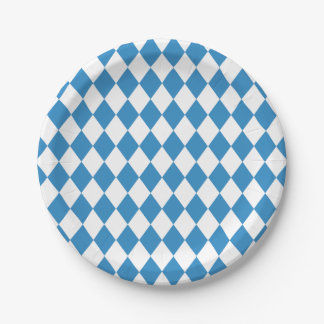 Bavarian Geometric Pattern for Oktoberfest. Paper Plate
