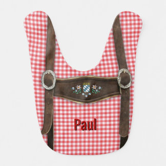 Bavarian Lederhosen (customizable) Bib