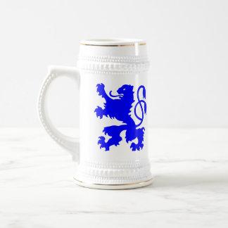 Bavarian Lion (blue) stein