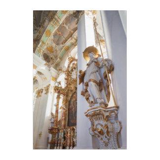 Bavarian Rococo Church Interior Acrylic Wall Art