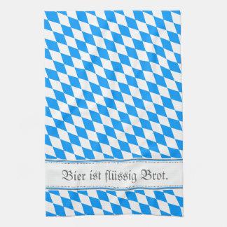 Bavarian samples tea towel