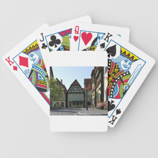 Bavarian Town Street Corner Scene Bicycle Playing Cards