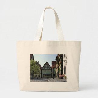 Bavarian Town Street Corner Scene Large Tote Bag