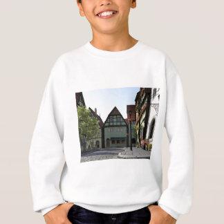 Bavarian Town Street Corner Scene Sweatshirt