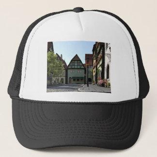 Bavarian Town Street Corner Scene Trucker Hat