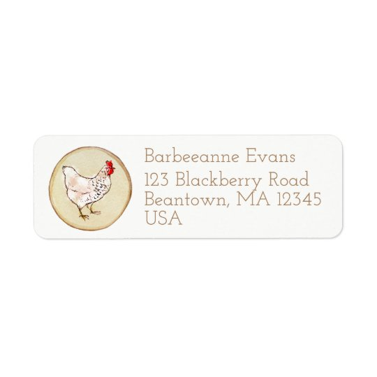 Bawk Bawk Return Address Label