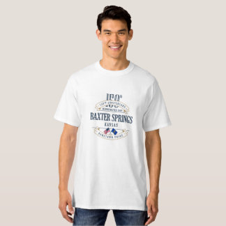 Baxter Springs, Kansas 150th Anniv. White T-Shirt