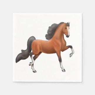 Bay American Saddlebred Horse Napkins Disposable Napkin