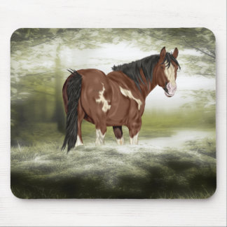 Bay and White Splash Overo Paint Horse Mouse Pad