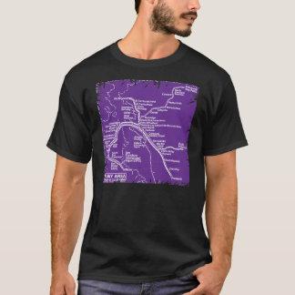 Bay Area Bart Train Map (Purple) T-Shirt