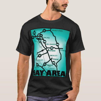 Bay Area Freeway Map T-Shirt