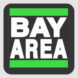 Bay Area Green Square Sticker