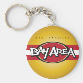 Bay Area Red & Gold Keychain