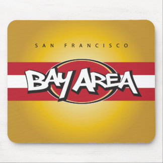 Bay Area Red & Gold Mouse Pad