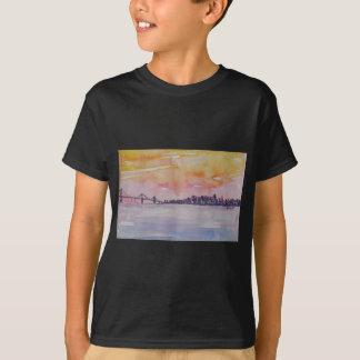 Bay Area Skyline San Francisco With Oakland Bridge T-Shirt
