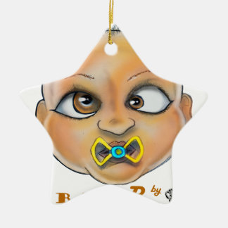 Bay B Face Ceramic Ornament