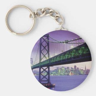 Bay Bridge Basic Round Button Key Ring