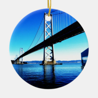 Bay Bridge Northern California San Francisco Round Ceramic Decoration