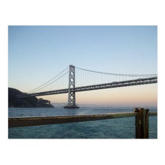 Bay Bridge SF California Postcard