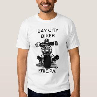 BAY CITY BIKER   (T-SHIRT) TEE SHIRT
