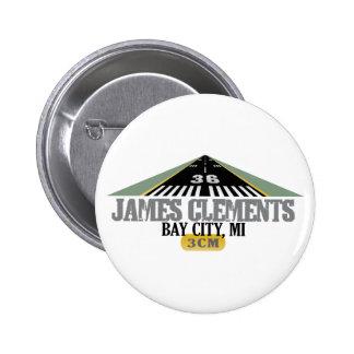 Bay City MI - Airport Runway Pinback Button