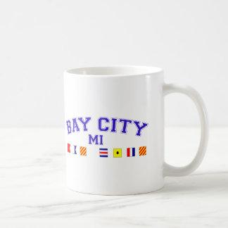 Bay City, MI - Nautical Spelling Basic White Mug