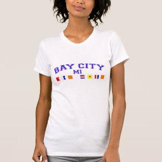 Bay City, MI - Nautical Spelling T-shirts