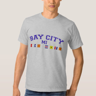 Bay City, MI - Nautical Spelling Tee Shirts