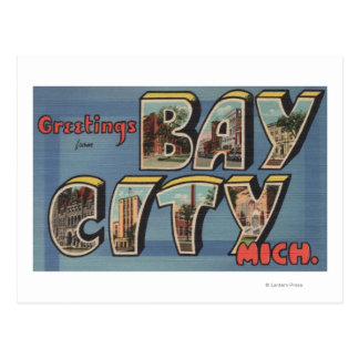Bay City, Michigan - Large Letter Scenes Postcard