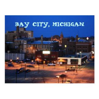 BAY CITY, MICHIGAN POST CARD POST CARD DOWNTOWN