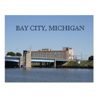 BAY CITY MICHIGAN POST CARD SAGINAW RIVER