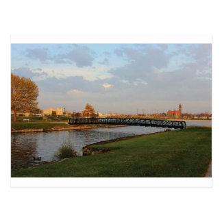 Bay City, Michigan skyline Postcard