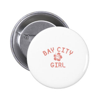 Bay City Pink Girl Buttons