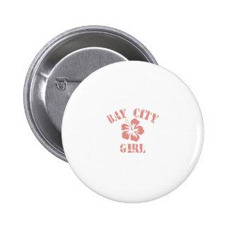 Bay City Pink Girl Pins