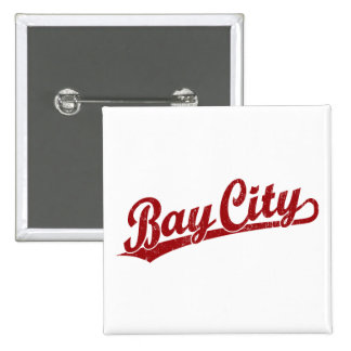 Bay City script logo in red Button