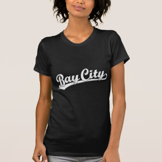 Bay City script logo in white Shirts