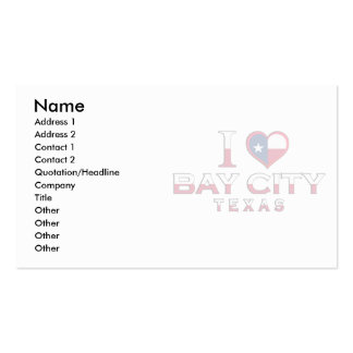 Bay City, Texas Business Card Template